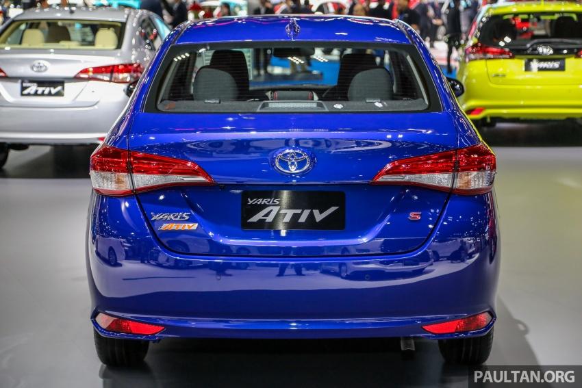 Bangkok 2018: Toyota Yaris Ativ – Vios generasi baharu dengan enjin 1.2L, hanya untuk pasaran Thai Image #796831
