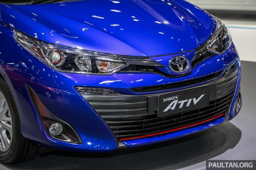 Bangkok 2018: Toyota Yaris Ativ – Vios generasi baharu dengan enjin 1.2L, hanya untuk pasaran Thai Image #796829