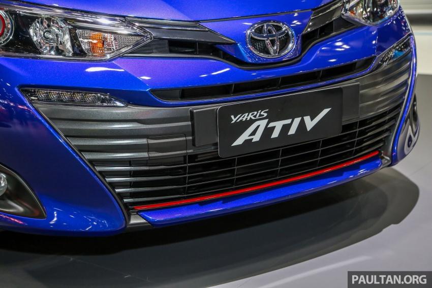 Bangkok 2018: Toyota Yaris Ativ – Vios generasi baharu dengan enjin 1.2L, hanya untuk pasaran Thai Image #796826