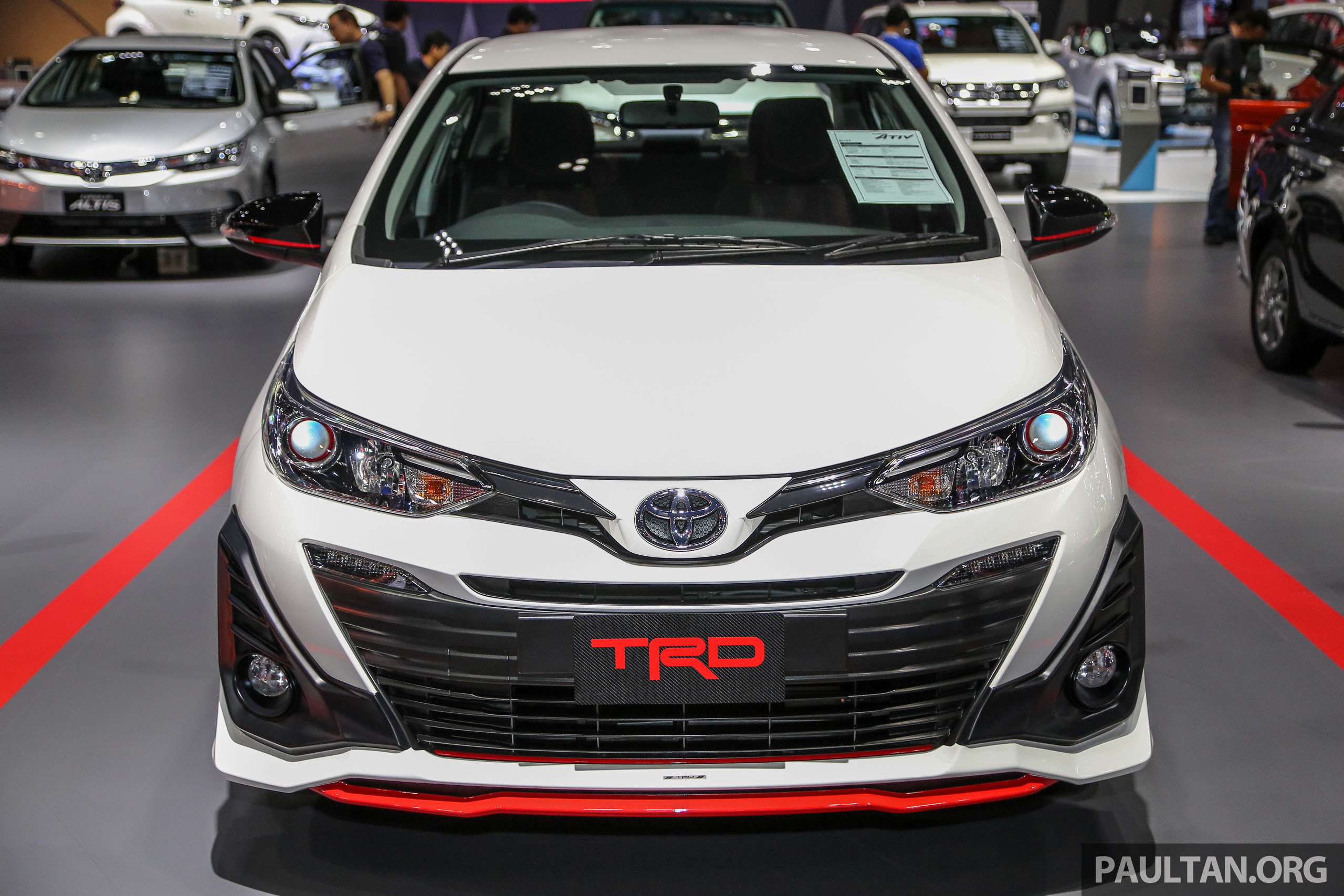 bangkok 2018 toyota yaris ativ trd future vios trd. Black Bedroom Furniture Sets. Home Design Ideas