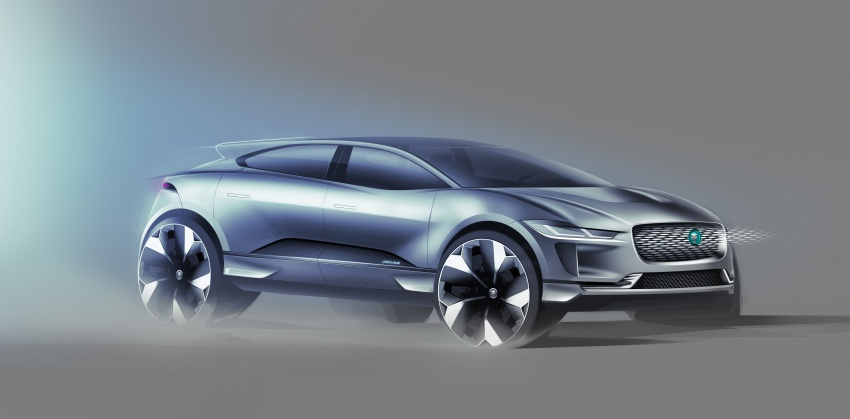 Jaguar I-Pace – brand's first all-electric vehicle debuts with 400 PS, 0-100 km/h in 4.8 seconds, 480 km range Image #785039