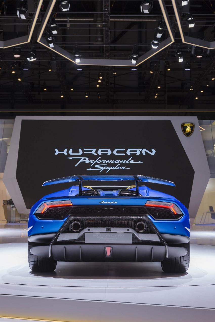 Lamborghini Huracan Performante Spyder revealed Image #787517