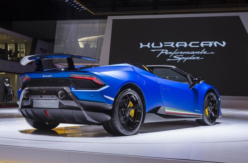 Lamborghini Huracan Performante Spyder revealed Image #787518