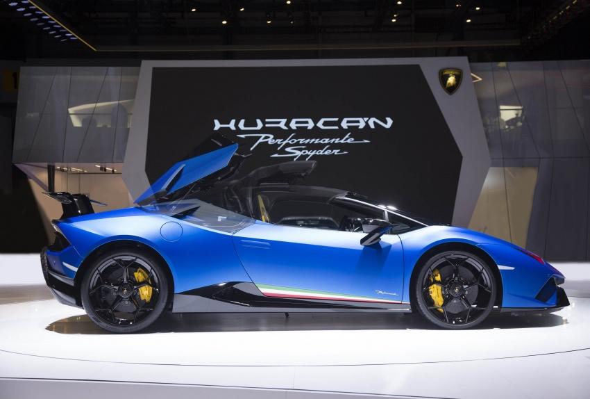 Lamborghini Huracan Performante Spyder revealed Image #787522