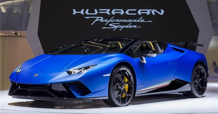 Lamborghini Huracan Performante Spyder revealed Image #787529