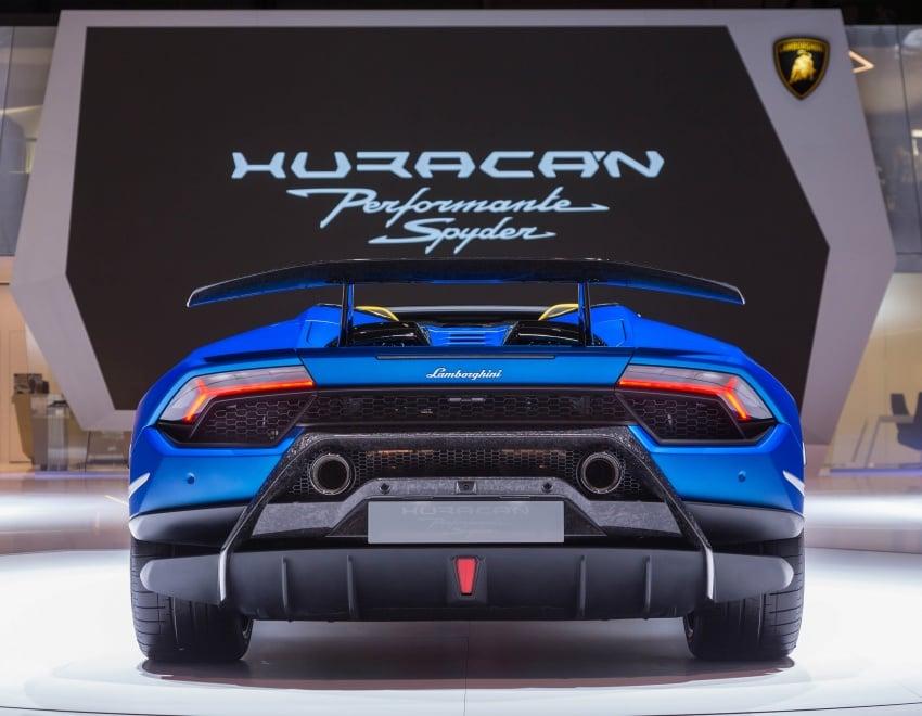 Lamborghini Huracan Performante Spyder revealed Image #787530