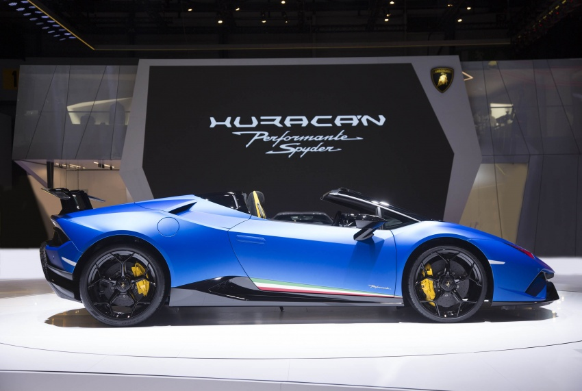 Lamborghini Huracan Performante Spyder revealed Image #787546