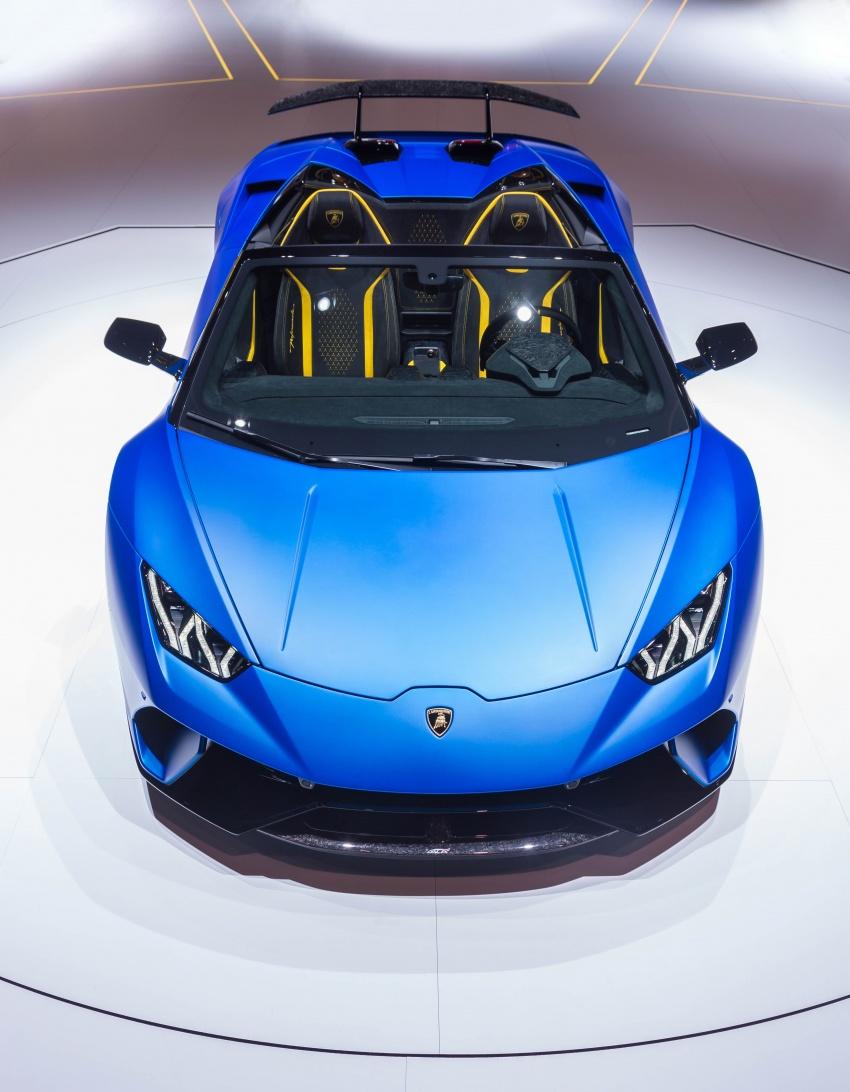 Lamborghini Huracan Performante Spyder revealed Image #787554