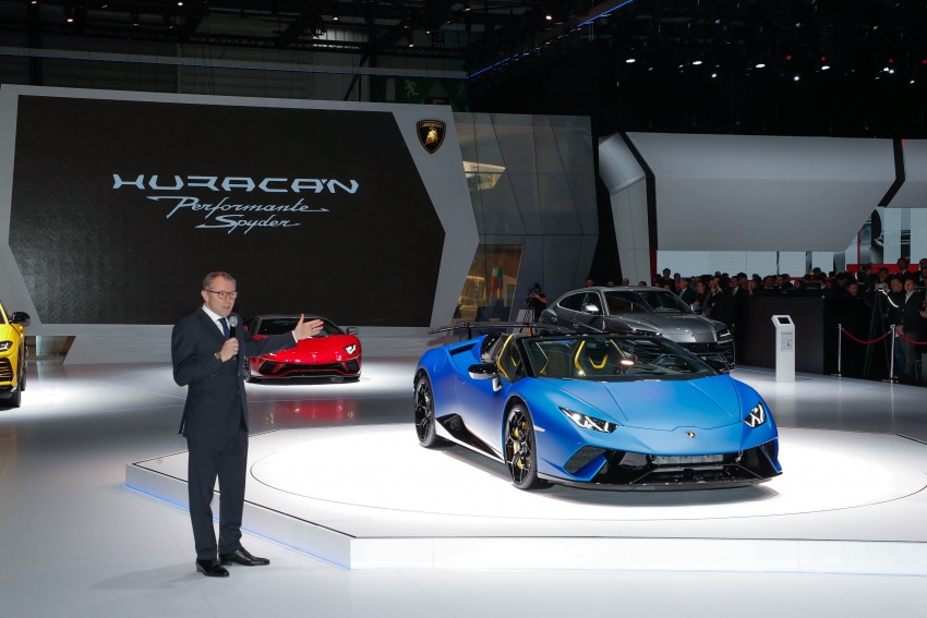 Lamborghini Huracan Performante Spyder revealed Image #787559