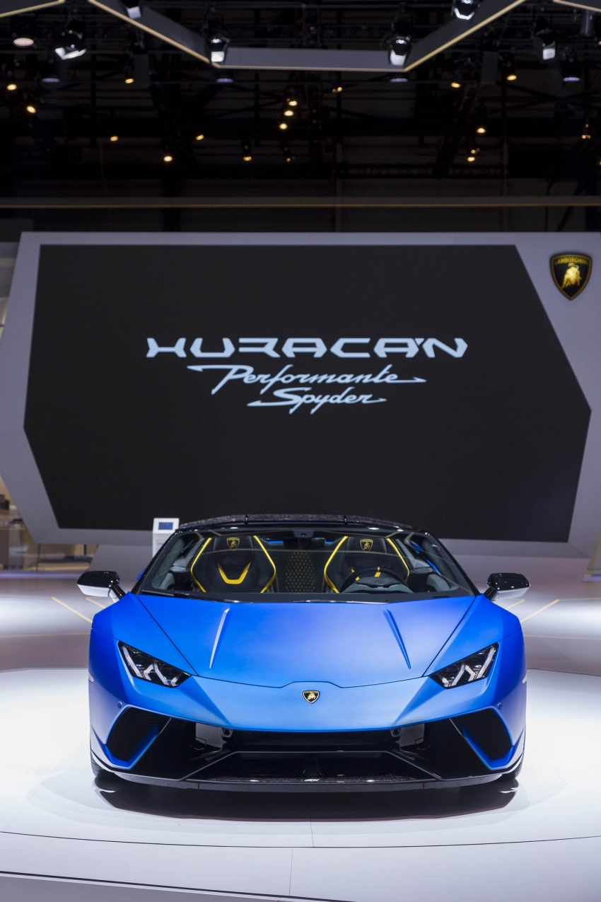 Lamborghini Huracan Performante Spyder revealed Image #787560