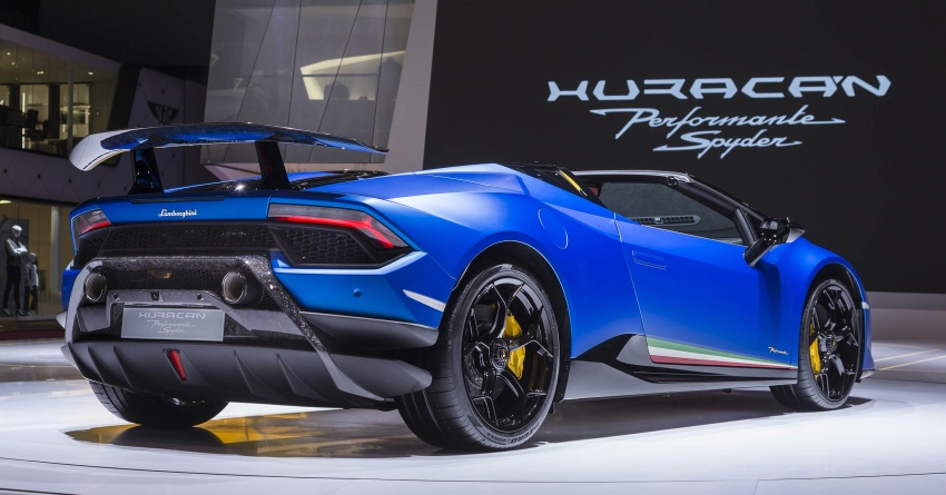 Lamborghini Huracan Performante Spyder revealed Image #787561
