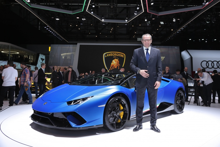 Lamborghini Huracan Performante Spyder revealed Image #787566