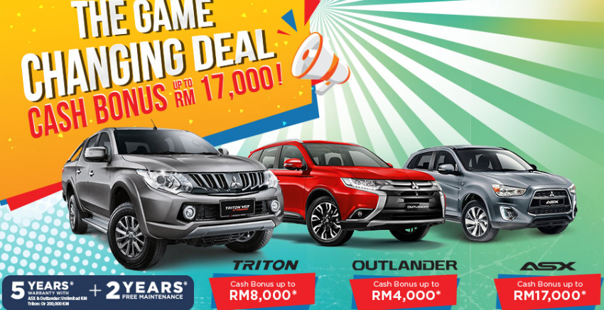 Mitsubishi Malaysia anjur promosi Game Changing Deal – bonus tunai sehingga RM17k untuk ASX Image #784536