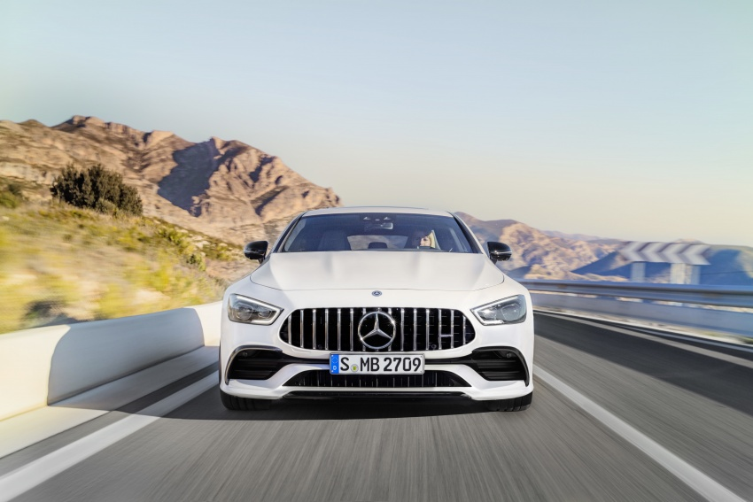 Mercedes-AMG GT Coupe 4-pintu didedahkan – tampil pilihan enjin 4.0L V8 twin turbo, 630 hp/900 Nm Image #787459