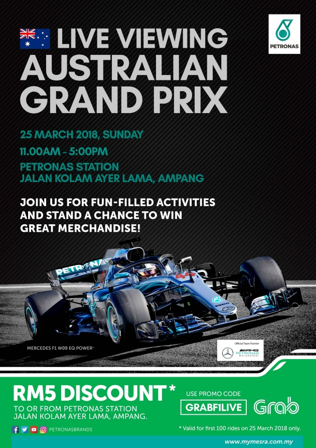 Petronas invites F1 fans to its Australian Grand Prix live