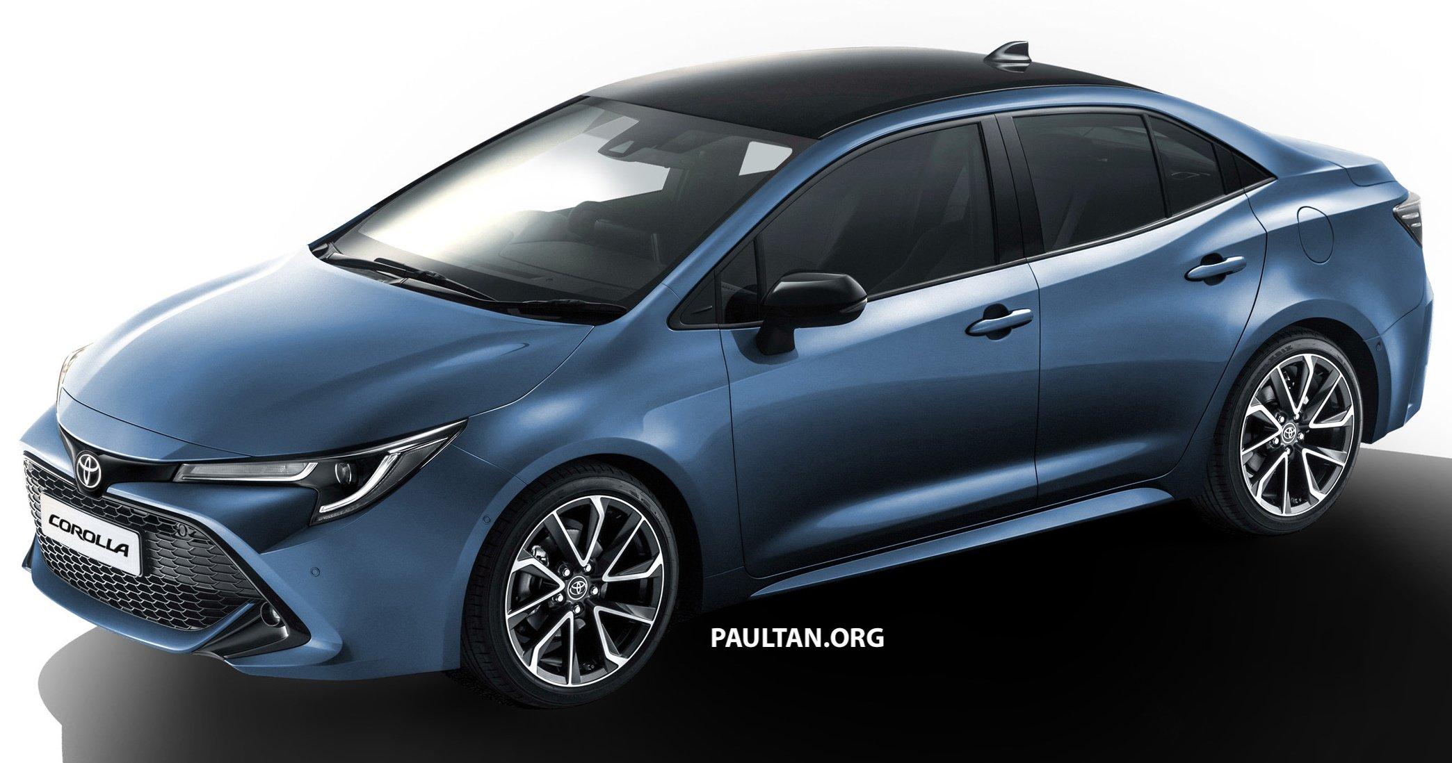 Toyota Corolla Sedan Rendered Based On Auris Hatch Auto Breaking News