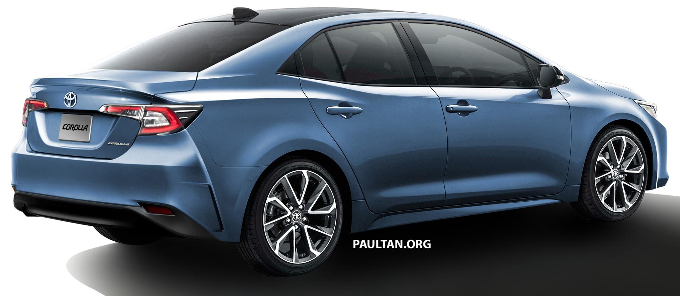 Toyota Corolla Sedan Rendered Based On Auris Hatch World Blogs