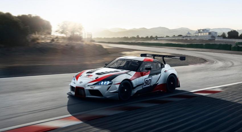 Toyota Supra generasi baharu dalam konsep model perlumbaan sebenar didedahkan di Geneva 2018 Image #786878