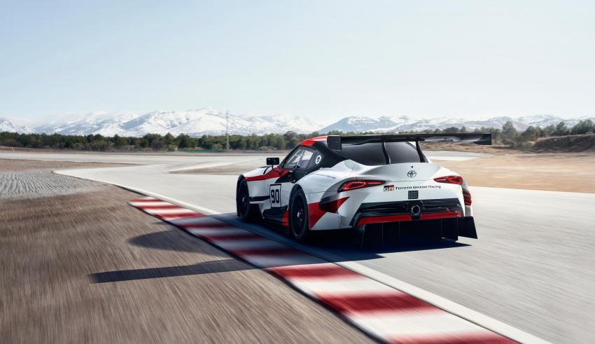 Toyota Supra generasi baharu dalam konsep model perlumbaan sebenar didedahkan di Geneva 2018 Image #786880