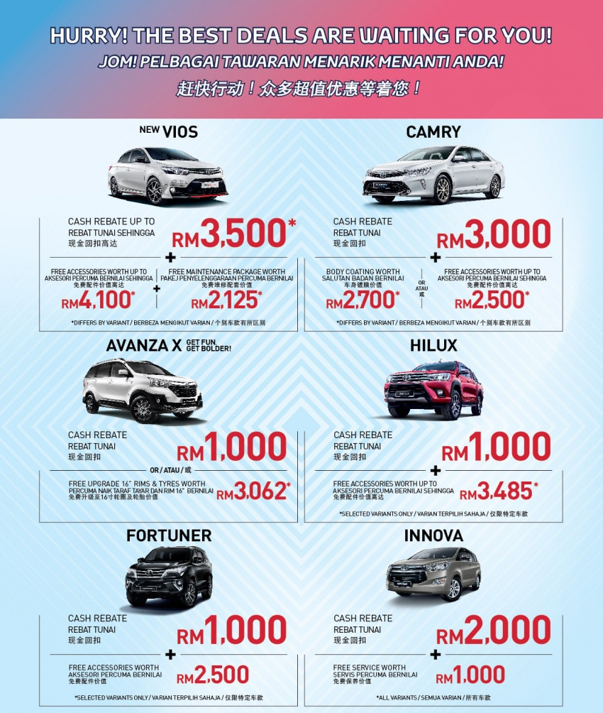 UMW Toyota offering up to RM3,500 in cash rebates and free accessories worth up to RM4,100 this March Image #786608