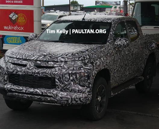 SPYSHOTS: Mitsubishi Triton facelift – pick-up truck spotted with latest Dynamic Shield front-end Image #793004
