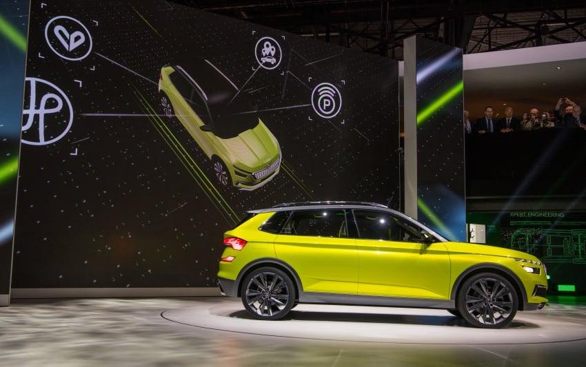 Skoda Vision X previews small SUV, CNG hybrid drive Image #788175