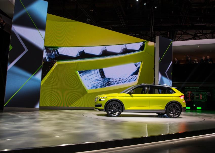 Skoda Vision X previews small SUV, CNG hybrid drive Image #788179