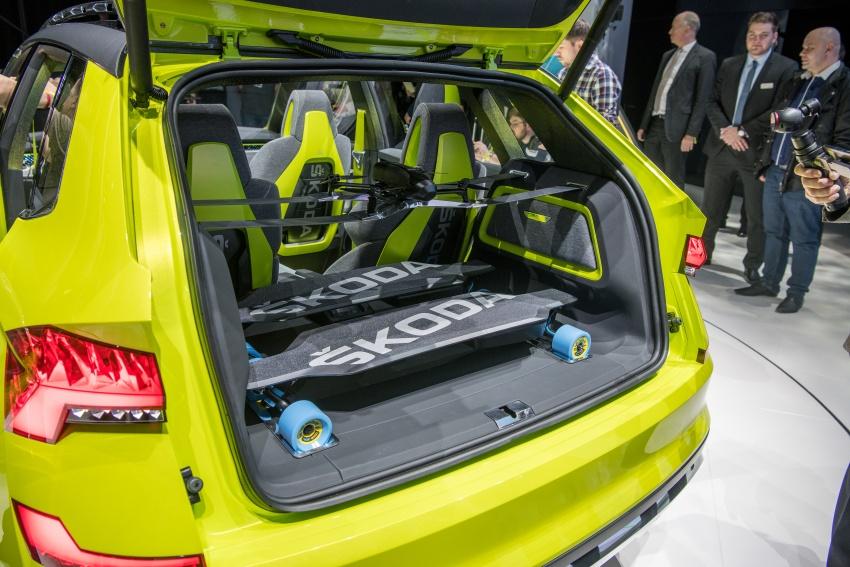 Skoda Vision X previews small SUV, CNG hybrid drive Image #788183