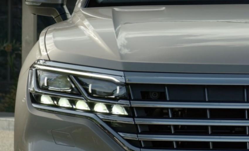 Vw Touareg 2019 >> VIDEO: All-new 2019 Volkswagen Touareg teased again Paul Tan - Image 793107
