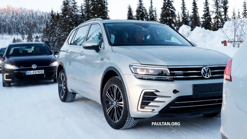 SPYSHOTS: Volkswagen Tiguan GTE on winter trials Image #785414