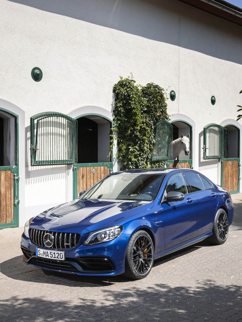 Mercedes-AMG C63 facelift debuts with new 9G auto Image #955944