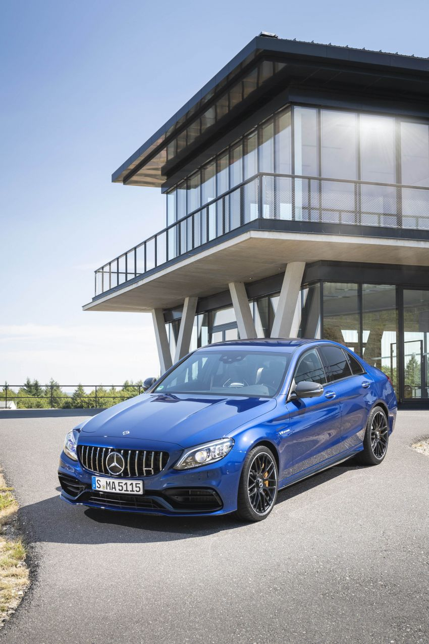 Mercedes-AMG C63 facelift debuts with new 9G auto Image #955946