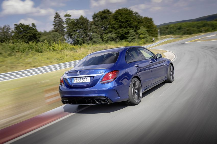 Mercedes-AMG C63 facelift debuts with new 9G auto Image #955949