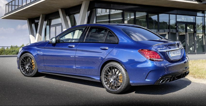 Mercedes-AMG C63 facelift debuts with new 9G auto Image #955935