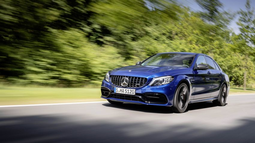 Mercedes-AMG C63 facelift debuts with new 9G auto Image #955938