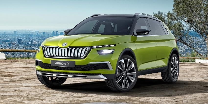 Skoda Vision X didedahkan – model konsep dengan enjin janaan gas asli (CNG), petrol dan motor elektrik Image #786746