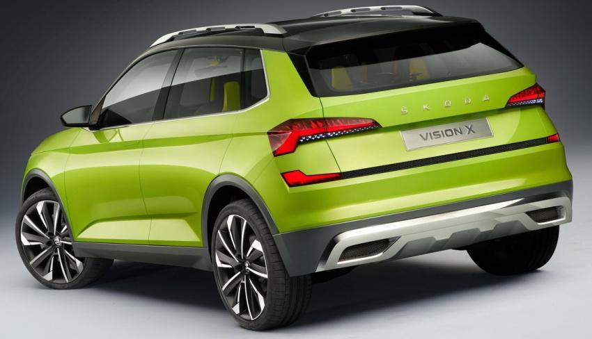 Skoda Vision X didedahkan – model konsep dengan enjin janaan gas asli (CNG), petrol dan motor elektrik Image #786748
