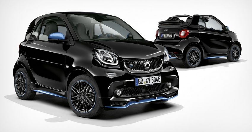 smart EQ fortwo, forfour nightsky edition EVs unveiled – new fast charger, car-sharing service also introduced Image #786759