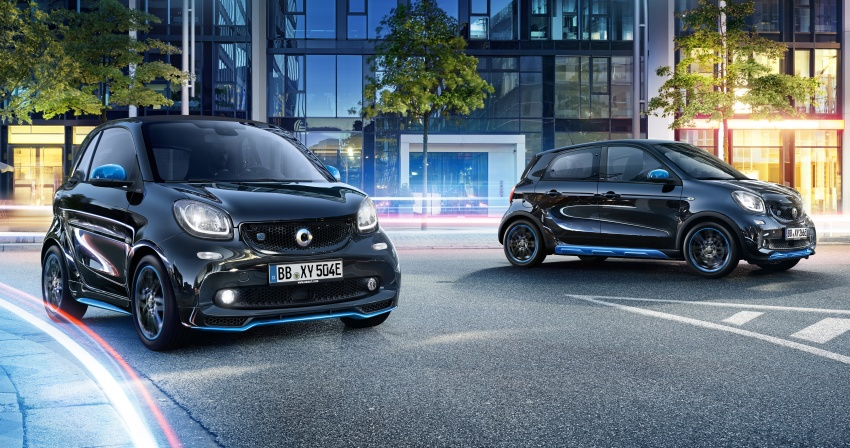 smart EQ fortwo, forfour nightsky edition EVs unveiled – new fast charger, car-sharing service also introduced Image #786750