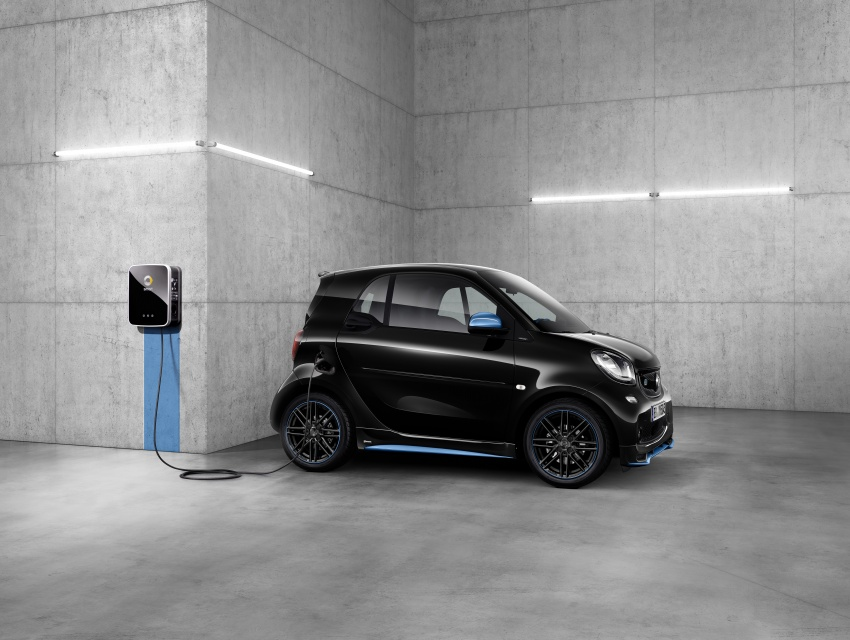 smart EQ fortwo, forfour nightsky edition EVs unveiled – new fast charger, car-sharing service also introduced Image #786754