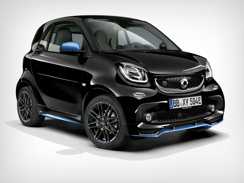 smart EQ fortwo, forfour nightsky edition EVs unveiled – new fast charger, car-sharing service also introduced Image #786756
