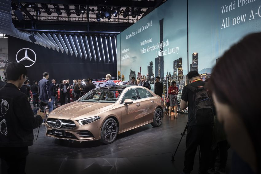 Z177 Mercedes-Benz A-Class L Sedan revealed in Beijing – alternate version for other markets in H2 2018 Image #811501