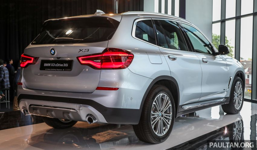G01 BMW X3 launched in M'sia – 30i Luxury, RM314k Image #809260