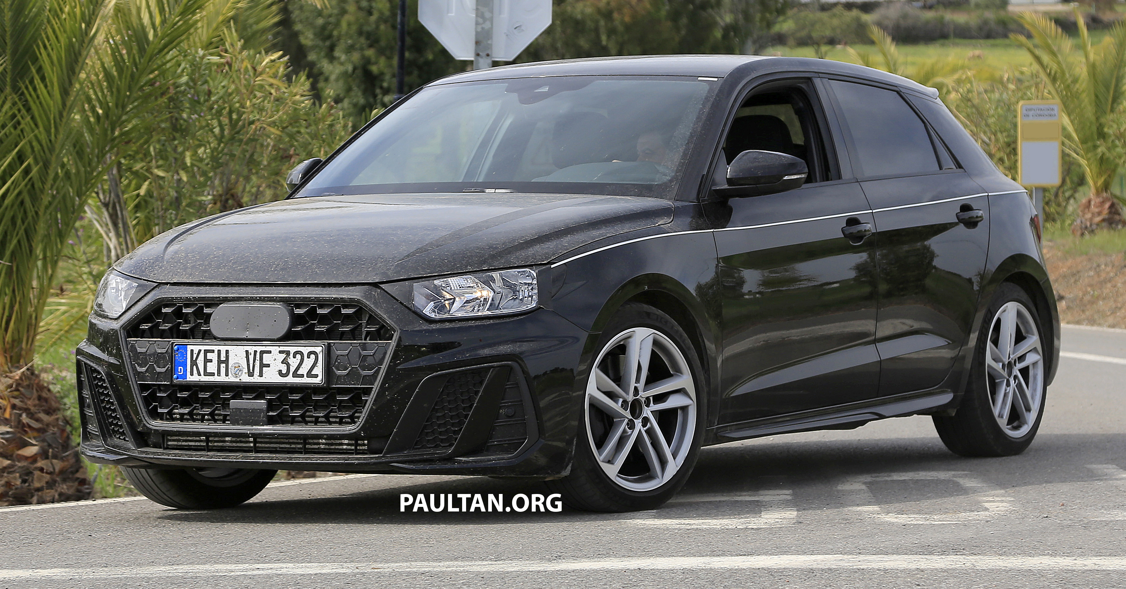 spyshots 2019 audi a1 seen with less camouflage. Black Bedroom Furniture Sets. Home Design Ideas