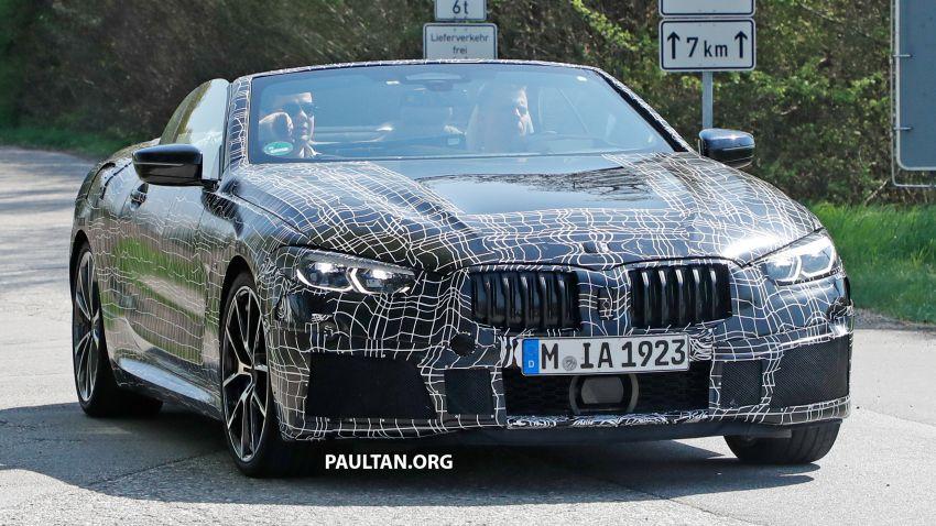 SPIED: BMW 8 Series cabrio – clearer interior photos! Image #810492