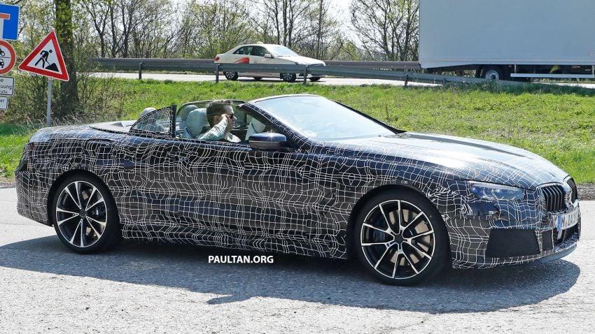 SPIED: BMW 8 Series cabrio – clearer interior photos! Image #810496