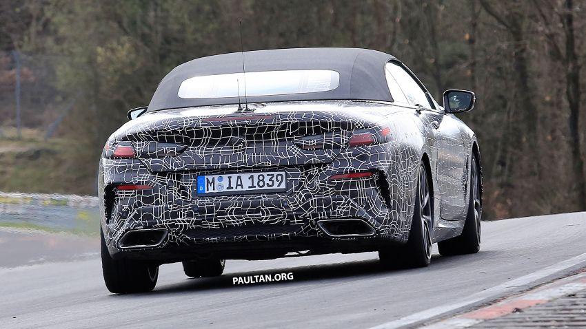SPIED: BMW 8 Series cabrio – clearer interior photos! Image #810443