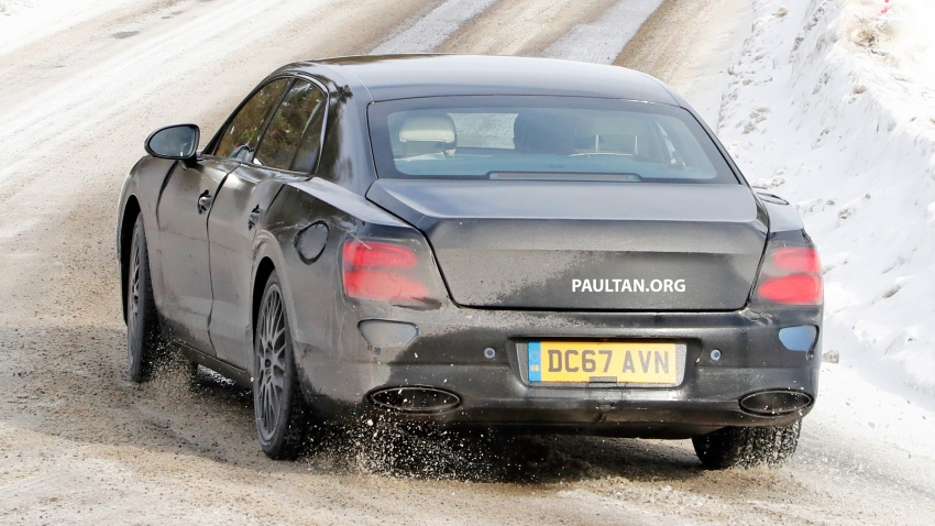 SPIED: Bentley Flying Spur plug-in hybrid spotted Image #801182