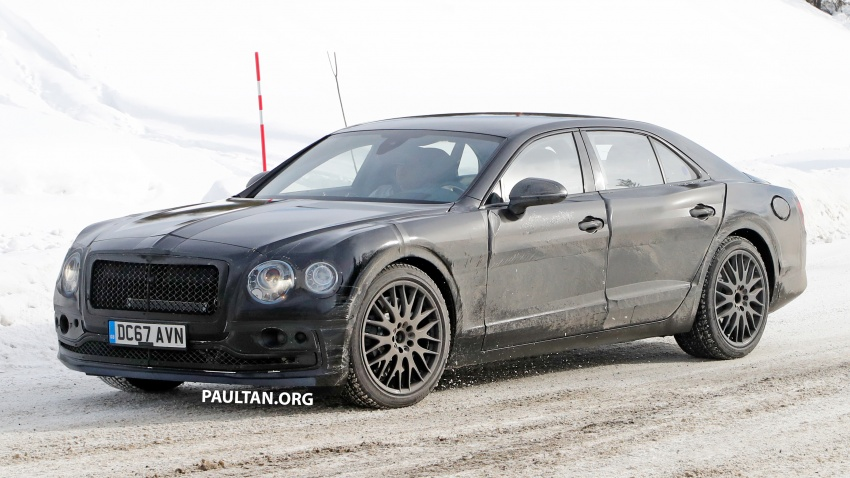 SPIED: Bentley Flying Spur plug-in hybrid spotted Image #801175