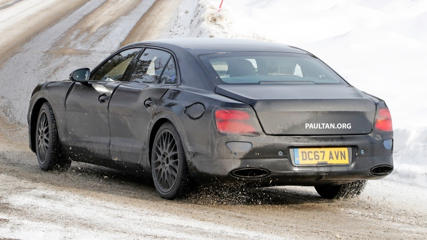 SPIED: Bentley Flying Spur plug-in hybrid spotted Image #801181